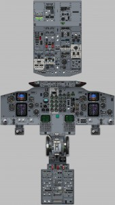 Boeing 737 EFIS layout cockpit diagram