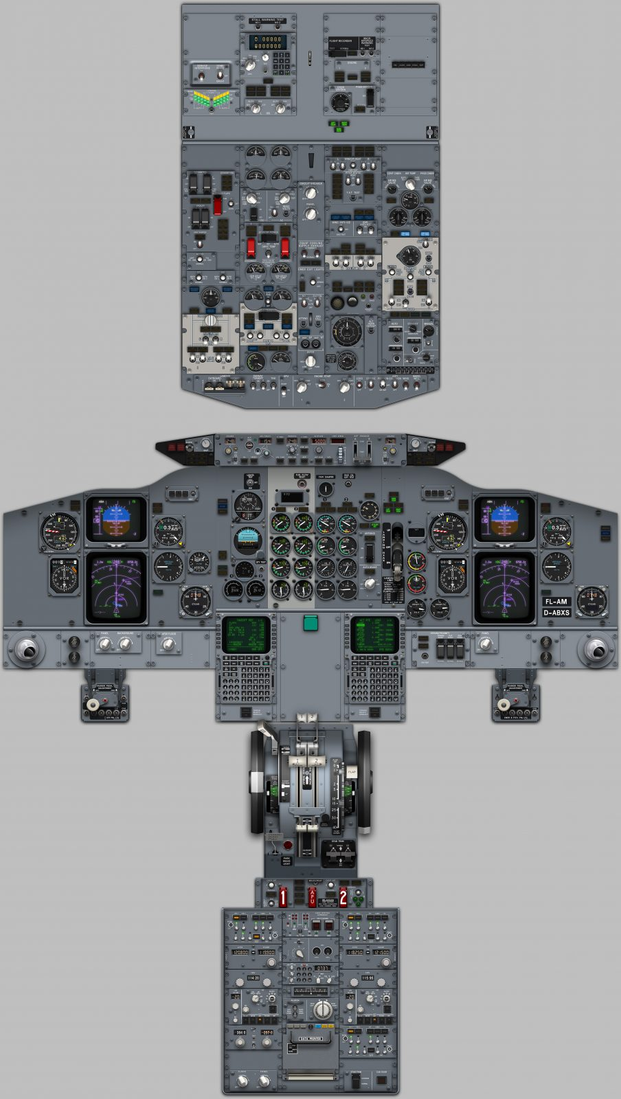737 Simulator Cockpit Diagrams